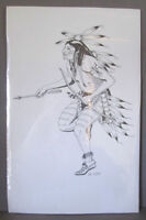 Energetic Dancing Brave Original Etching by First Nations Artist Peterborough Peterborough Area Preview