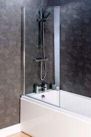 Glass bath screens, shower screens