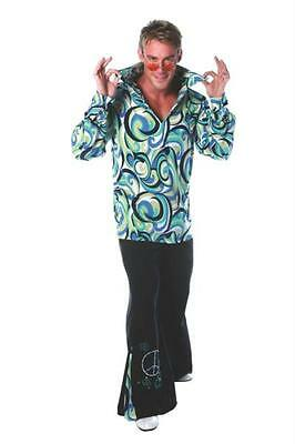 MENS 70'S SWINGER DISCO PARTY BELL BOTTOMS COSTUME UR28973