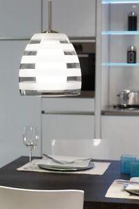 Suspension de cuisine verre lustre lampe pendante plafonnier transparent 5499 - Lampe suspension cuisine ...