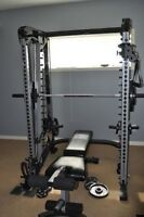 Nautilus smith machine with cable cross over