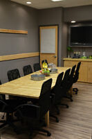 Conference Room & Meeting Room available by the hour or day.
