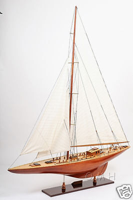 "XL Endeavour America's Cup Yacht Wooden Model 60"" Sailboat Nautical Hotel Decor"