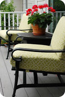 PATIO CUSHION RECOVERING - Fabric is now 50-60% off