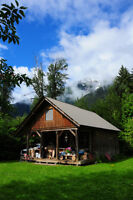 1.5 storey cabin for sale in salmon country, Skeena River, BC