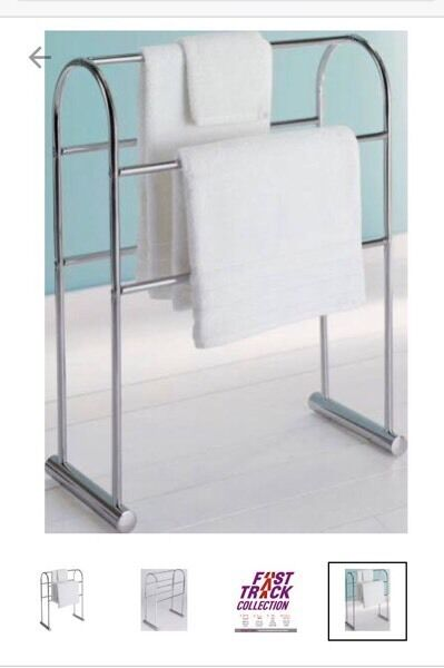 BRAND NEW Traditional curved towel rail