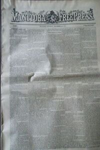 """Reproduction of the first """"Manitoba Free Press"""" of 1872"""
