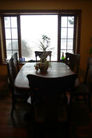 Antique Dining Table with 6 + 1 chairs