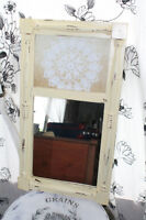 chalk painted small mirror