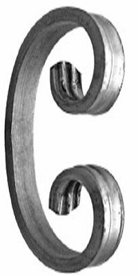 50 off Gate C Scroll 12 x 6mm 110 x 70mm with Fish Tailed Ends