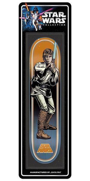 New Santa Cruz Star Wars Luke Skywalker Collectible Skateboard Deck 31.7inx7.8in