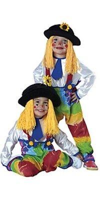 Unisex Kinder Bunt Clown Kostüm Outfit Klein & Kleinkinder ()