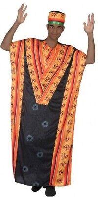 Herren Afrikanische Tribe Leader aus Aller Welt Kostüm Kleid Outfit M/L & XL