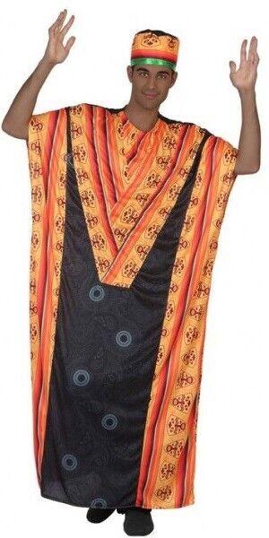 Herren Afrikanische Tribe Leader um The World Kostüm Kleid Outfit M/L & XL