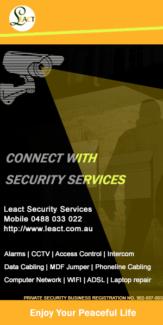 MDF jumper,Alarm, CCTV, Data cabling,  Access control or Intercom