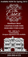 Leasing Hamilton's Most Luxurious        Waterfront Condos !