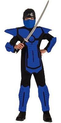Jungen Kind Brotherhood Of The Dragon Elite Deluxe Blau Ninja Force Kostüm