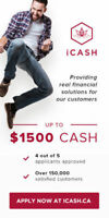 Get your money now at https://iCash.ca and get a loan up to 1500