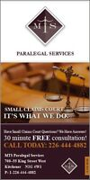 PARALEGAL REPRESENTATION, SMALL CLAIMS/TRAFFIC TICKETS