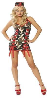 Camouflage Sexy  Army Nurse Mini Dress Costume Hat ML Roma  4012 New