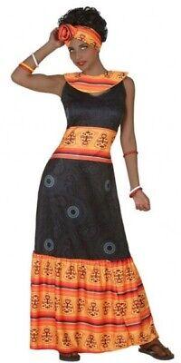 Damen Afrikanische Schönheit aus Aller Welt Karneval Kostüm Kleid Outfit 8-18