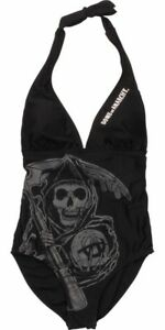 Sons of Anarchy Reaper Halter One Piece Swimsuit NWOT $40 Size L