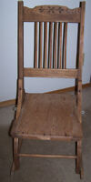 ANTIQUE WOODEN FOLDING ROCKING CHAIR,SOLD AS FOUND.