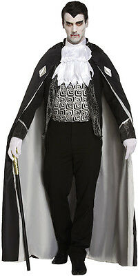 Gothic Dracula Vampire Lord Horror Fancy Dress Halloween Costume Outfit Size M-L (Count Dooku Halloween Costume)