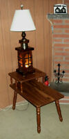 Vintage Table with Custom Built Lamp