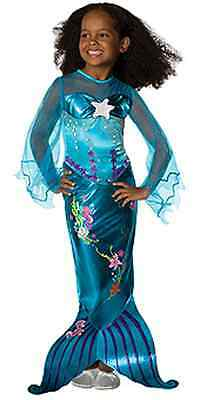 Popular Blue Magical Mermaid Ariel Disney Princess Girl Costume Rubies Polyester
