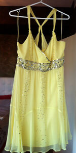 100% silk and sequin dress - Size L