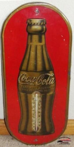 1938 Oval Coca Cola Christmas Thermometer