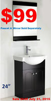 Bathroom Vanities from $99!One Piece Toilets from $119!