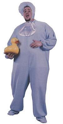 Erwachsene Baby Blau Pyjama Schlafanzüge Lätzchen Kostüm XXL FW5727B (Halloween Kostüme Anzüge)
