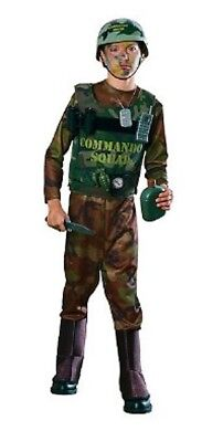 Boys Child Army Soldier Costume Commando Kit With Helmet , Vest , & Accessories - Army Costume Accessories