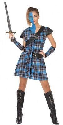 Kostüm Frau Schottische blau XS/S 36/38 Menschen in der Monde Land neu billig (Der Land Frau Kostüme)
