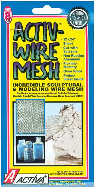"""Activ-Wire Mesh 12""""X24 Inches-For Creating Masks, Jewelry, Armatures"""
