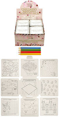 Childrens Kids Wedding Activity Pack Puzzle Colouring Drawing Book Favour