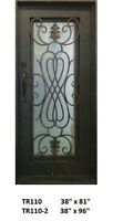 Wrought %100 Iron Single Front/ Exterior / Entry Door