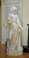 Exclusive Solid Marble Custom statue (Lady with grapes)