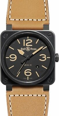 BR-03-92-HERITAGE | BELL & ROSS AVIATION | NEW & AUTHENTIC MENS AUTOMATIC WATCH