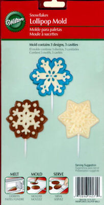 Snowflake Lollipop Chocolate Candy Mold from Wilton #1571 (Snowflake Candy)