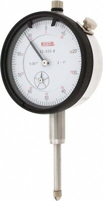 22-300-8 Spi Deluxe Dial Indicator 1.000 Range 0.001 Graduation 0-100 Reading