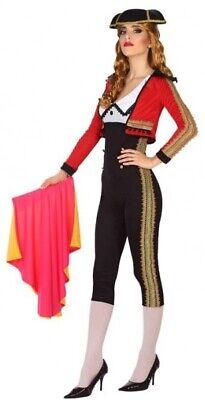 Damen Sexy Spanisch Matador Bulle Kämpfer Kostüm Kleid Outfit UK 8-18