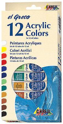 C.Kreul El Greco Acrylfarbenset 12x12ml Acryl