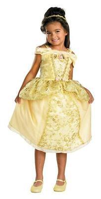 Mädchen Disney Prinzessin Belle Luxus Kostüm Kleider Größe 4-6 DG50569L (Disney Prinzessin Belle Kostüme)