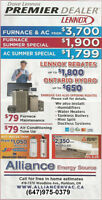 ** Inventory Clearance Sale - High Efficiency Furnace, AC