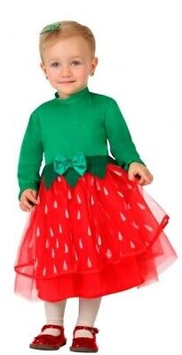 Baby Mädchen Erdbeere Obst Tropisch Hawaii Ernte Kostüm - Baby Erdbeer Outfit