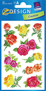 Z54370 2 Stickerbogen Rosen transparent  Sticker Aufkleber NEU