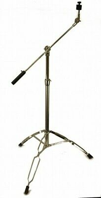 """CYMBAL BOOM STAND Chrome Heavy Duty 1"""" Thick Adjustable Double Braced Tripod"""